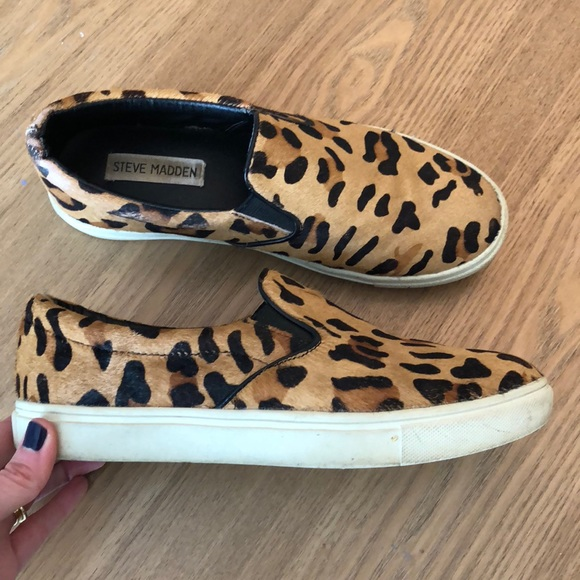 Leopard Print Steve Madden Slip Ons